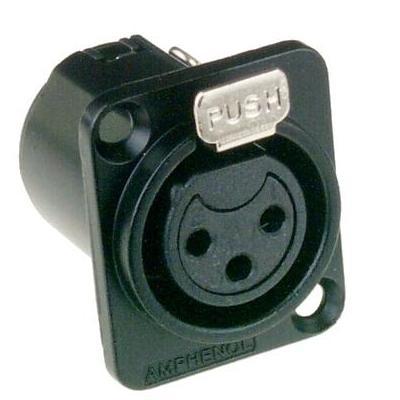 Amphenol elektrische standaardconnector: 3P, XLR - Zwart
