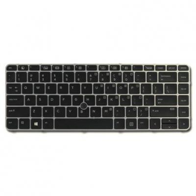 Hp notebook reserve-onderdeel: Backlit keyboard assembly (Netherlands) - Zwart