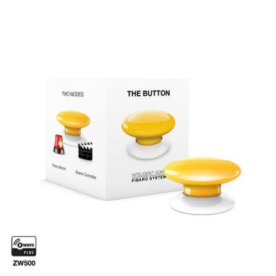 Fibaro : The Button - Wit, Geel