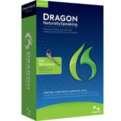 Nuance stemherkenningssofware: Dragon NaturallySpeaking Premium 12.0 Wireless