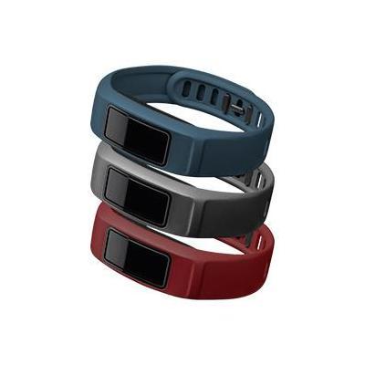 """Garmin : 3 x banden voor Vivofit 2, S (4.7-6.9""""/120-175 mm), City (bordeauxrood/grijs/marineblauw) - Bordeaux rood, ....."""