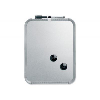 Nobo whiteboard: Slimline Magnetisch Whiteboard 280x220mm Zilver - Grijs, Zilver