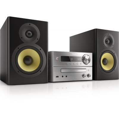 Philips home stereo set: DVD-micromuzieksysteem BTD7170/12 - Zwart, Zilver