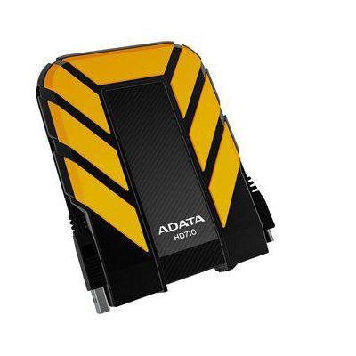 Adata externe harde schijf: 500GB DashDrive Durable HD710 - Zwart, Geel