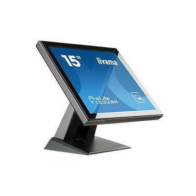 "Iiyama touchscreen monitor: ProLite 38.1 cm (15 "") TN LED, 1024 x 768, 8 ms, 350 cd/m2, 700 : 1, VGA & DVI-D, zwarz - ....."