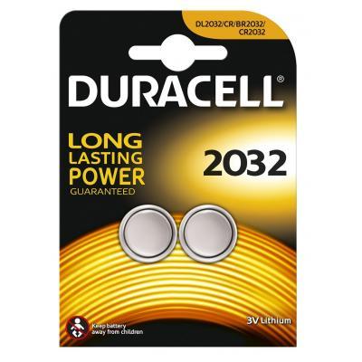 Duracell batterij: Specialty 2032 Lithium knoopcelbatterij, verpakking van 2