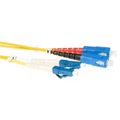 Ewent 1 meter LSZH Singlemode 9/125 OS2 glasvezel patchkabel duplex met LC en SC connectoren Fiber optic kabel - .....