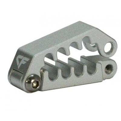Nanoxia CF Cableclip CC-8, Aluminium Kabelklem - Zilver