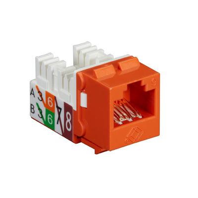 Black Box GigaTrue® 2 UTP Cat6 Keystone Jack - 110 Punchdown Type - Oranje