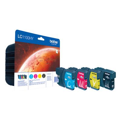Brother LC-1100HY Inktcartridge - Zwart, Cyaan, Magenta, Geel