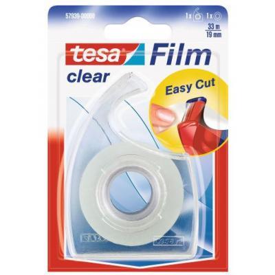 Tesa plakband: Clear 19mmx33m - Transparant