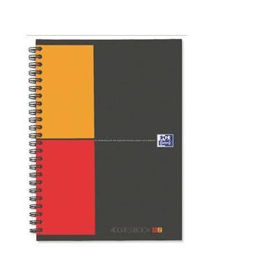 Elba schrijfblok: OXFORD International Adressbook A5, tweekleurig gelijnd (verpakking 5 stuks) - Grijs, Oranje, Rood