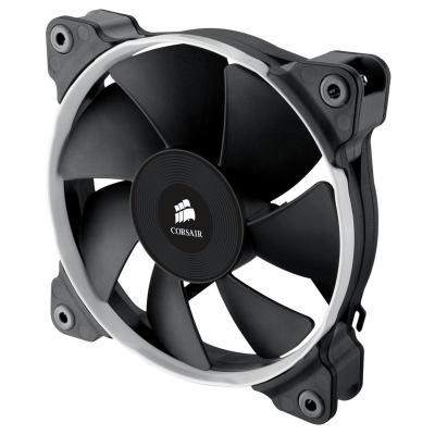 Corsair Hardware koeling: Air SP120 PWM Quiet Edition Twin Pack - Zwart, Blauw, Rood, Wit