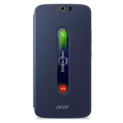 Acer mobile phone case: Zest Plus Active Flip cover Blue - Blauw