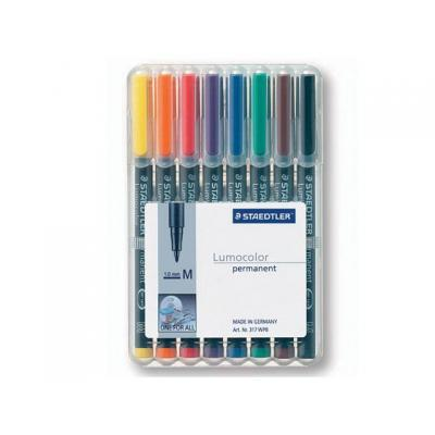 Lumocolor markeerstift: OHP/CD/DVDmarker Lc317 M ass/etui 8
