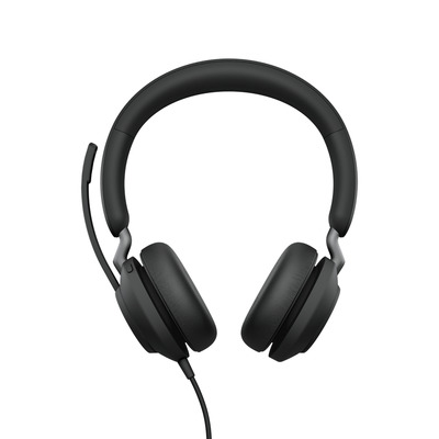 Jabra Evolve2 40, MS Stereo, USB-A Headset - Zwart