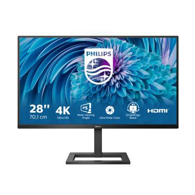 "Philips E-Line 28"" 4K Ultra HD LCD Monitor - Zwart"