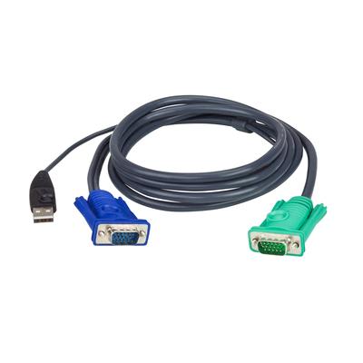 Aten 1.8M USB met 3 in 1 SPHD KVM kabel - Zwart