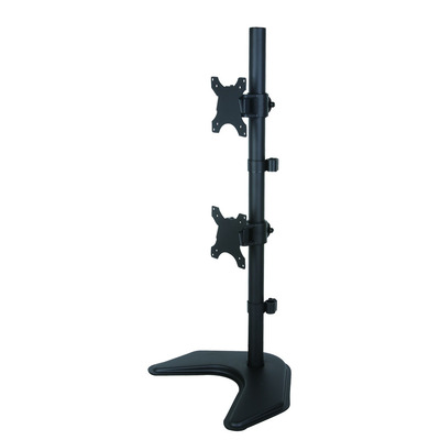 "Techly Desk monitor arm for 2 Monitor 13-27"" with base Monitorarm - Zwart"
