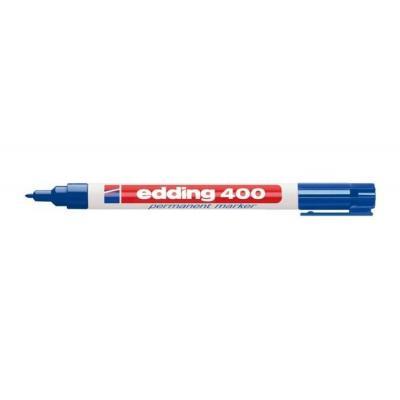Edding marker: 400 - Blauw, Wit
