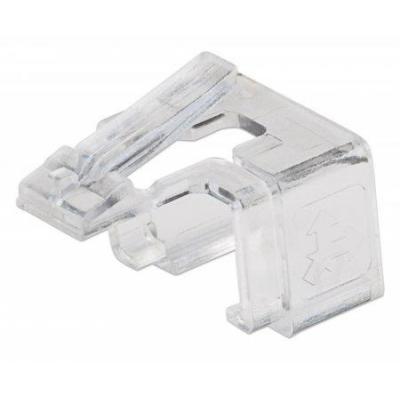 Intellinet kabelklem: Repair clip for RJ45 modular plug; transparent; 50 pack - Transparant