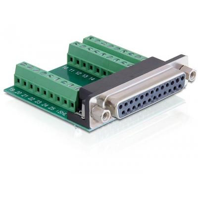 DeLOCK 65317 Kabel adapter - Zwart, Groen, Zilver