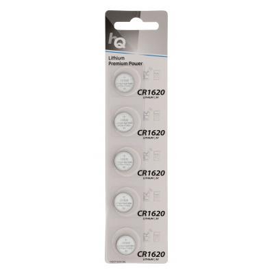 Hq batterij: HQ, Lithium Knoopcel CR1620-batterij 3 V, mAh 5-blister