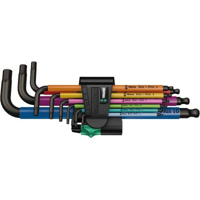 Wera : L-sleutelset, metrisch, roestvrij staal, veelkleurig