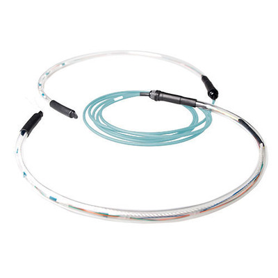 ACT 250 meter Multimode 50/125 OM3 indoor/outdoor kabel 4 voudig met LC connectoren Fiber optic kabel