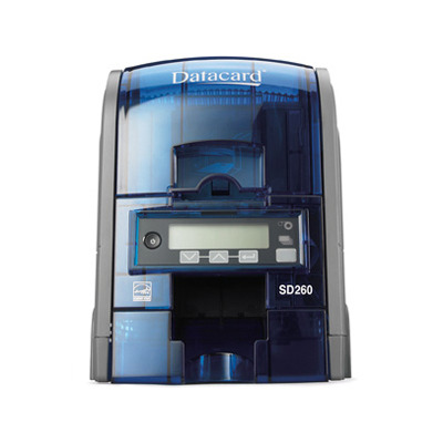 Datacard plastic kaart printer: SD260 - Zwart, Blauw
