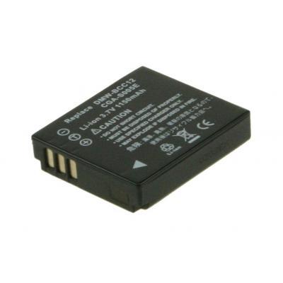 2-Power Digital Camera Battery 3.7v 1050mAh - Zwart