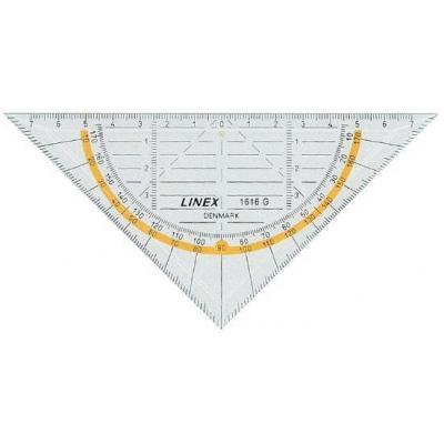 Linex driekhoek: 1616G - Transparant, Geel