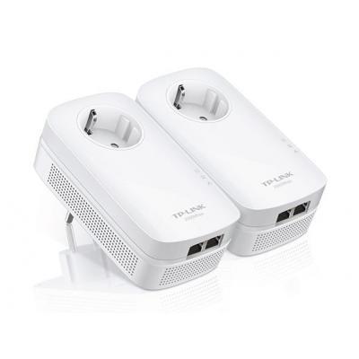 Tp-link powerline adapter: Home Plug AV2, 2x RJ 45 Gigabit LAN, OFMD, 300m, 128-bit AES - Wit