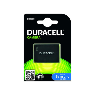 Duracell Camera Battery - replaces Samsung SLB-10A Battery - Zwart