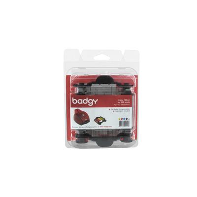 Evolis Ribbon & Cleaning Kit badgy 100p Printerlint - Zwart, Blauw, Roze, Wit, Geel