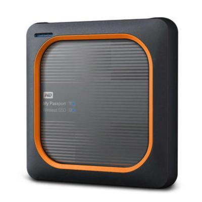 Western digital : My Passport Wireless SSD 2TB - Zwart, Oranje