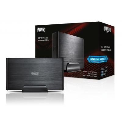"Sweex behuizing: 8.89 cm (3.5 "") SATA II HDD Enclosure, USB 3.0 - Zwart"