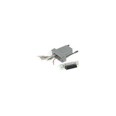 C2G RJ45 / DB15M Modular Adapter Kabel adapter - Grijs