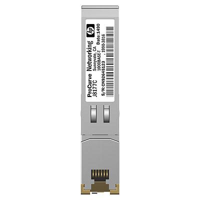 Hewlett packard enterprise netwerk tranceiver module: X120 1G SFP RJ-45 T