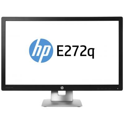 Hp monitor: EliteDisplay E272q - 27 - Zwart, Zilver