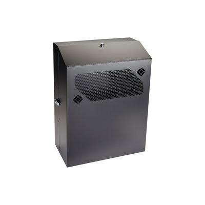 "Black Box Low-Profile Vertical Wallmount Cabinet - 6U, 24""D Equipment Rack - Zwart"