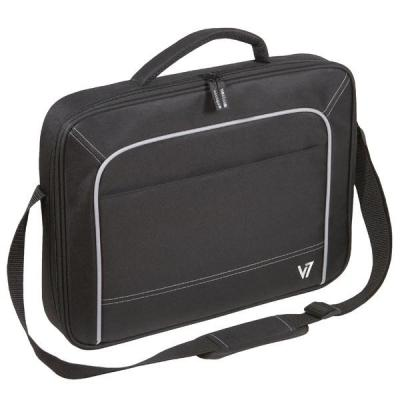"V7 laptoptas: Vantage Frontloader 17"" Notebook Case - Zwart"
