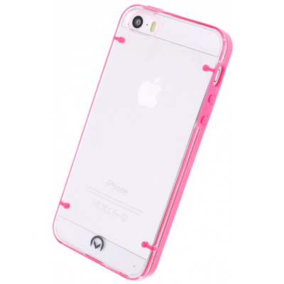 Mobilize Hybrid Case Transparant Apple iPhone 5/5S Fuchsia Mobile phone case - Roze, Transparant