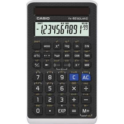Casio FX-82Solar II Calculator - Zwart