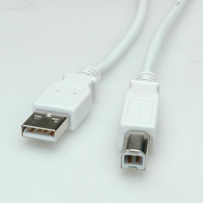 Value USB 2.0 Kabel, type A-B 1,8m USB kabel - Grijs
