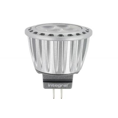 Integral hardware: MR11 (12V) LED Spot, 2700K, 3.7W, 205 Lumen, non dimmable