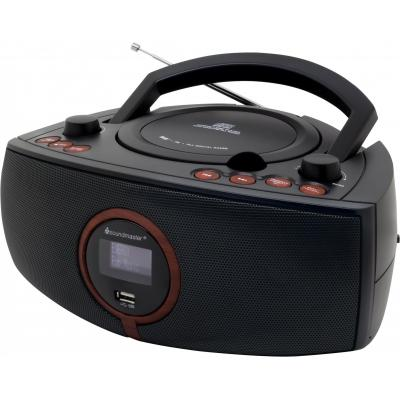 Soundmaster radio: FM, DAB+, LCD, 230V, 50Hz, Black/Brown - Zwart, Bruin