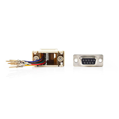 Nedis D-Sub-adapter, D-Sub 9-pins male - RJ45 (8P8C) female, Ivoor Kabel adapter