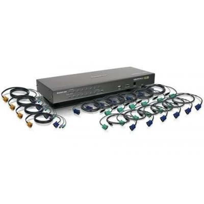 Iogear 16-Port USB PS/2 Combo with Cables KVM switch