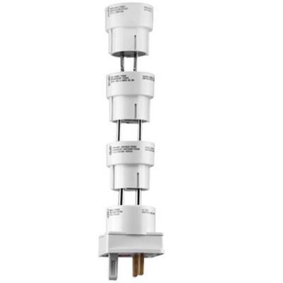 Wentronic stekker-adapter: Travel adaptor set 4 pcs, white - Wit